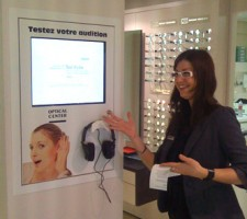 Projet bornes interactives Optical Center