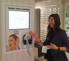 Projet bornes interactives Optical Center