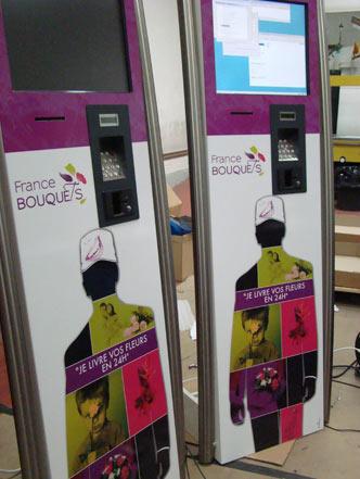 borne interactive tactile terminal de paiement