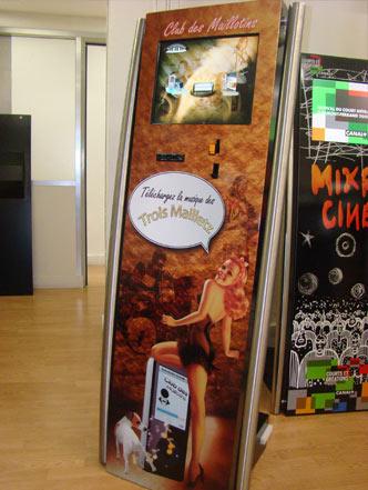 bornes interactives telechargement musique