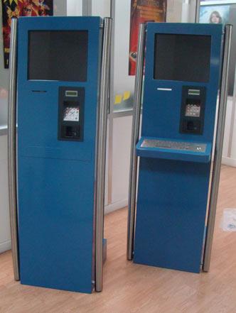 borne interactive terminal de paiement
